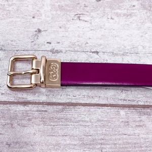 Cole Haan leather Burgundy & Brown reversible belt